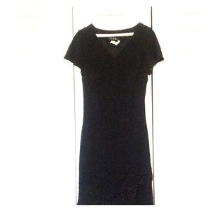 Dresses & Skirts - Vintage Black Party Dress with stone details